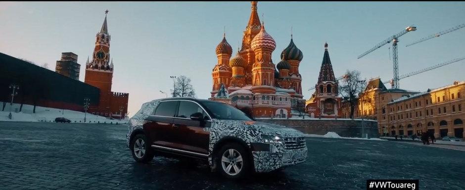 Din Slovacia pana in China cu noul Touareg. Nemtii sunt atat de increzatori in noul SUV incat il duc PE ROTI la lansare