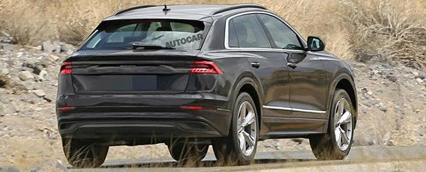 Din spate zici ca e Lamborghini Urus. Uite cum arata versiunea de serie a conceptului Audi Q8!