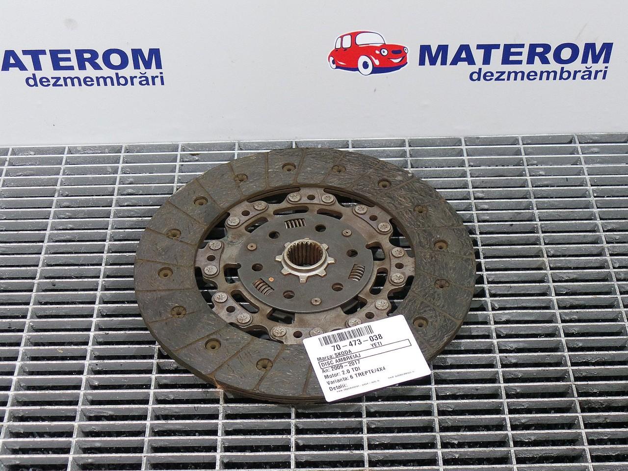 DISC AMBREIAJ SKODA YETI (5L) 1.6 TDI diesel (2009 - 05-2020-01)