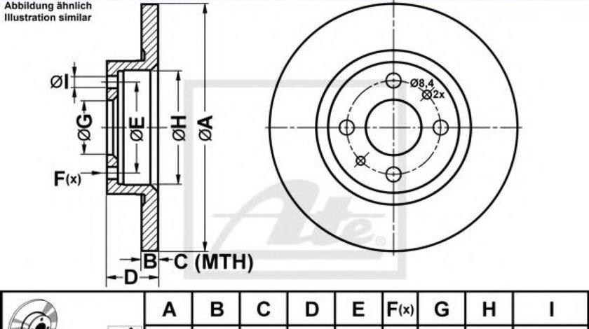 Disc frana ALFA ROMEO 146 (930) (1994 - 2001) ATE 24.0112-0127.1 produs NOU