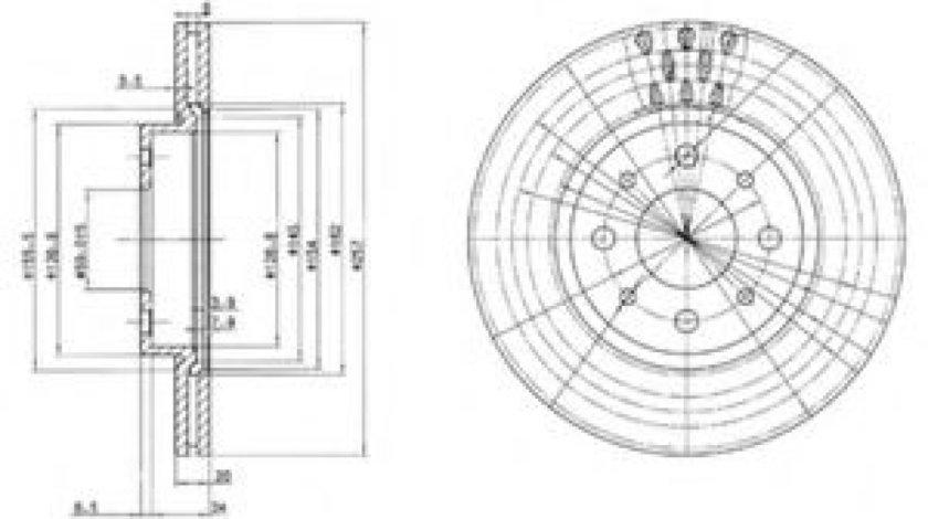 Disc frana ALFA ROMEO 155 (167) (1992 - 1997) DELPHI BG2830 produs NOU