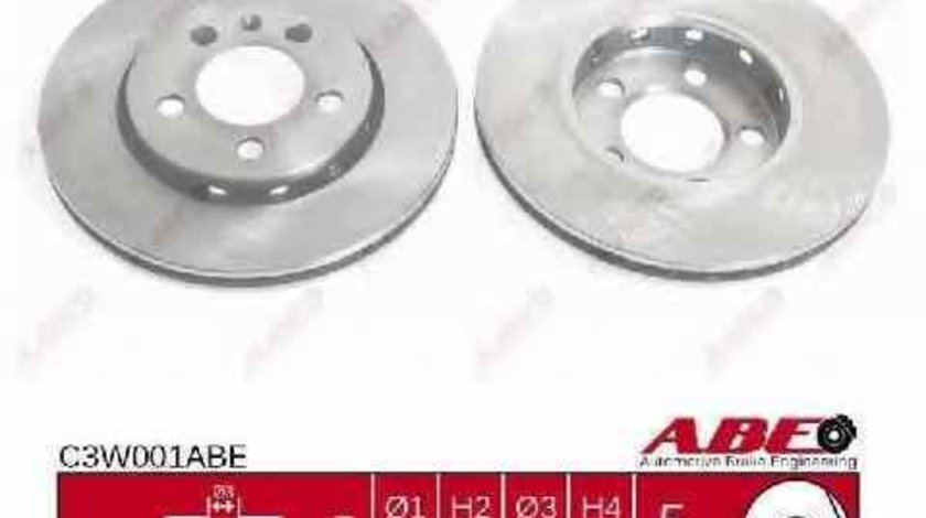 Disc frana AUDI A3 8L1 ABE C3W001ABE