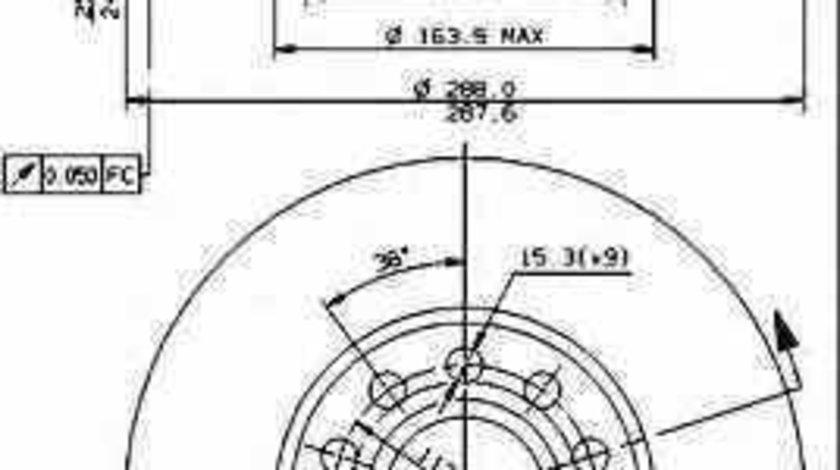 Disc frana AUDI A4 8D2 B5 BREMBO 09.5745.24