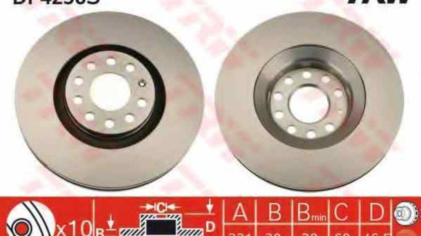 Disc frana AUDI A4 8D2 B5 TRW DF4258S