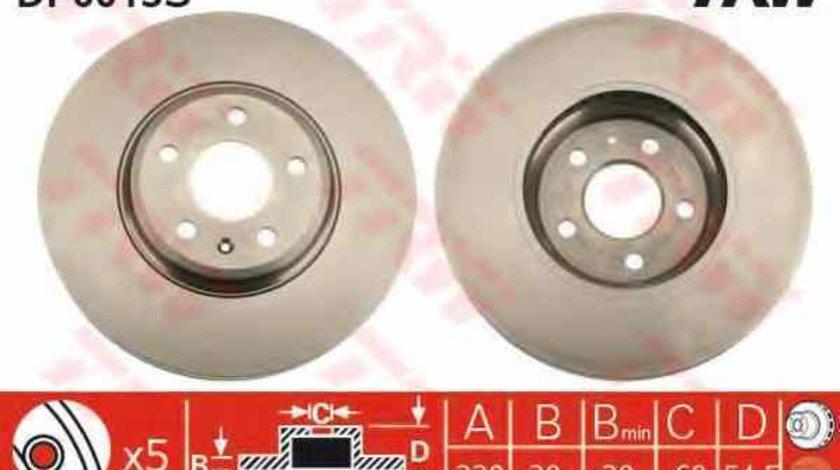 Disc frana AUDI A4 8K2 B8 TRW DF6015S