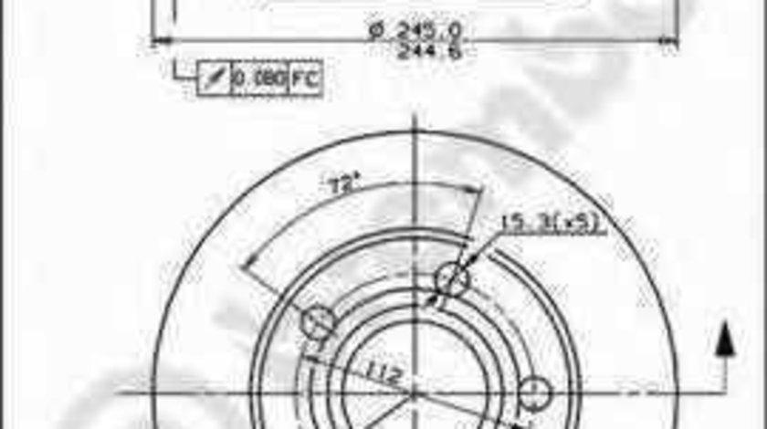 Disc frana AUDI A4 Avant 8D5 B5 BREMBO 08.8408.11