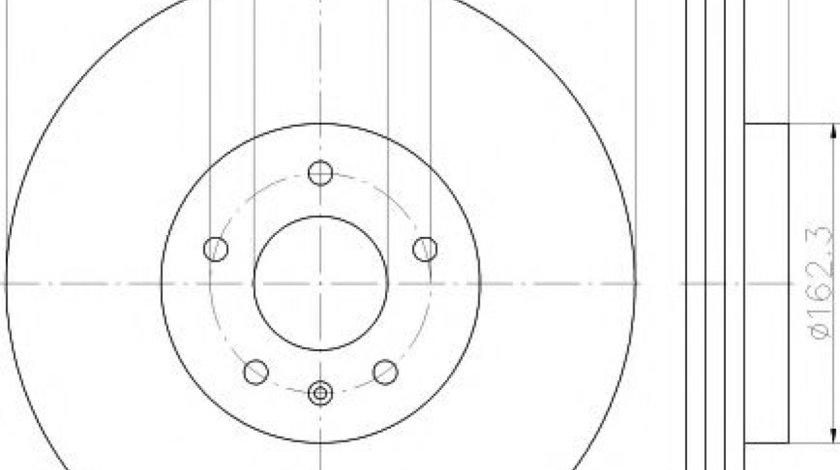 Disc frana AUDI A5 (8T3) (2007 - 2016) TEXTAR 92229303 - produs NOU