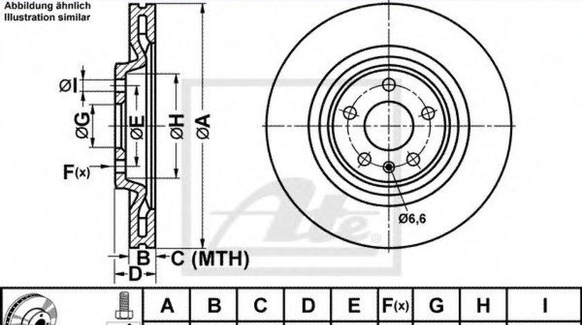 Disc frana AUDI A7 Sportback (4GA, 4GF) (2010 - 2016) ATE 24.0122-0272.1 piesa NOUA