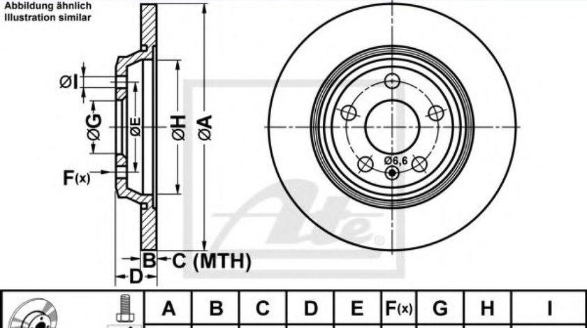 Disc frana AUDI A7 Sportback (4GA, 4GF) (2010 - 2016) ATE 24.0112-0178.1 piesa NOUA