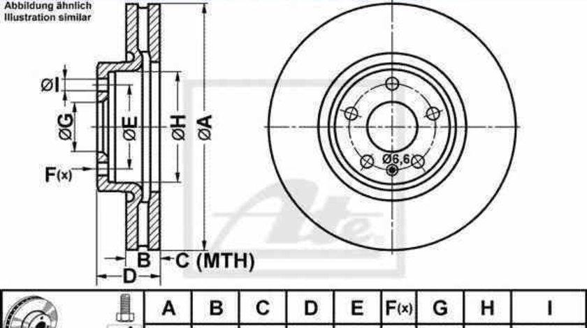 Disc frana AUDI A7 Sportback 4GA 4GF ATE 24.0130-0221.1