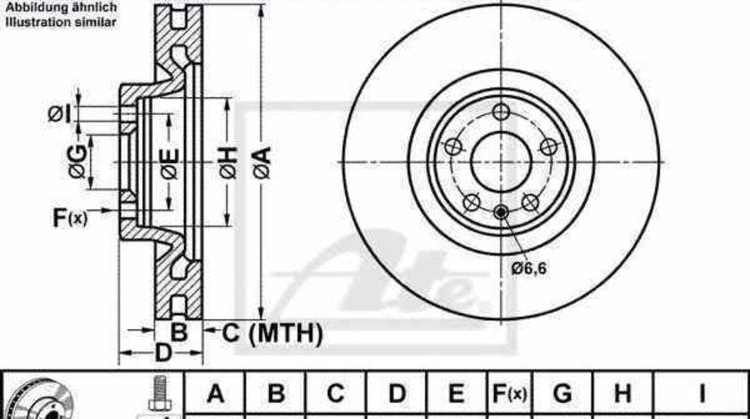 Disc frana AUDI A7 Sportback 4GA 4GF ATE 24.0134-0103.1