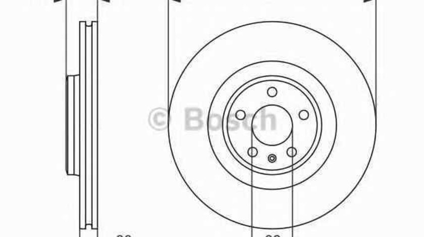Disc frana AUDI A7 Sportback 4GA 4GF BOSCH 0 986 479 747