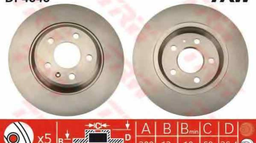 Disc frana AUDI A7 Sportback 4GA 4GF TRW DF4848