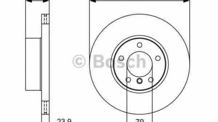 Disc frana BMW (BRILLIANCE) 3 SERIES (E90) BOSCH 0 986 479 381