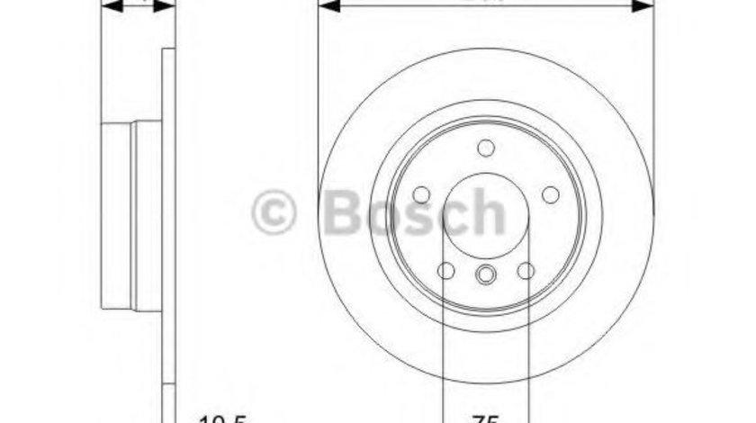 Disc frana BMW Seria 3 Cupe (E92) (2006 - 2013) BOSCH 0 986 479 C55 piesa NOUA