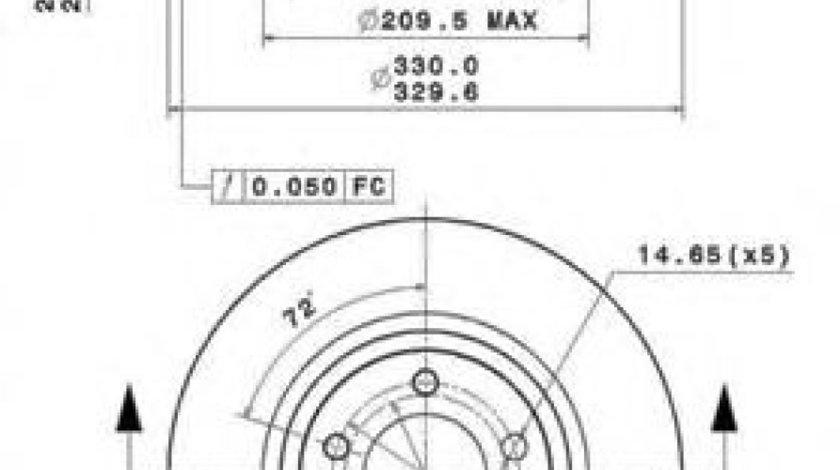 Disc frana BMW Seria 3 Cupe (E92) (2006 - 2013) BREMBO 09.A259.11 - produs NOU