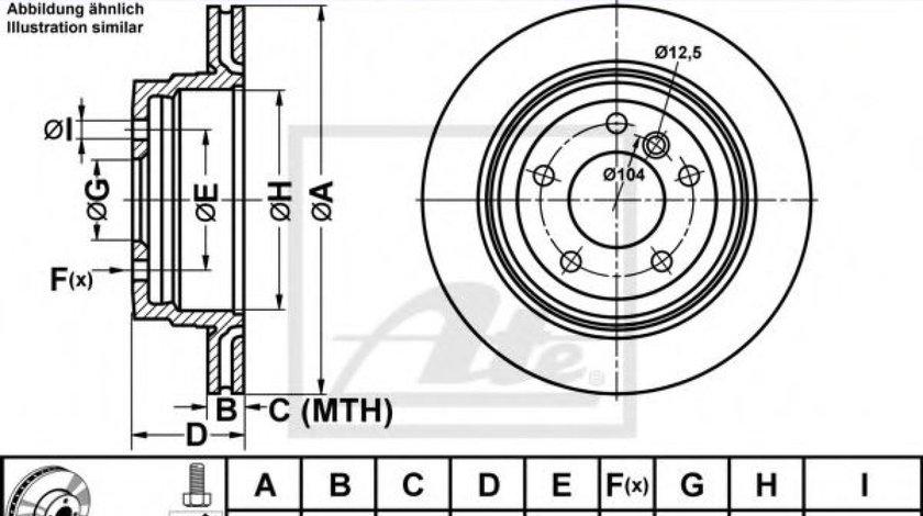 Disc frana BMW Seria 3 (E90) (2005 - 2011) ATE 24.0120-0204.1 piesa NOUA