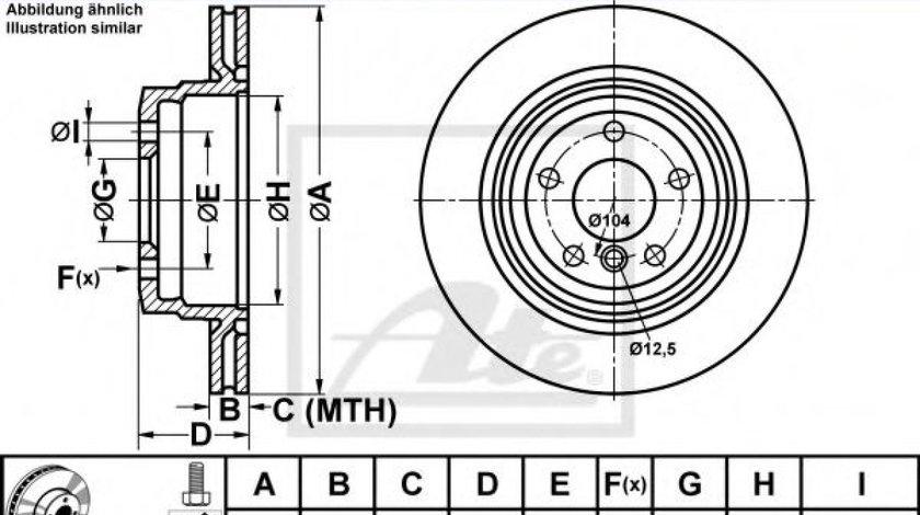 Disc frana BMW Seria 3 (E90) (2005 - 2011) ATE 24.0122-0236.1 piesa NOUA