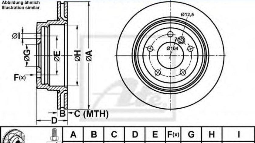 Disc frana BMW Seria 3 (E90) (2005 - 2011) ATE 24.0320-0204.1 piesa NOUA