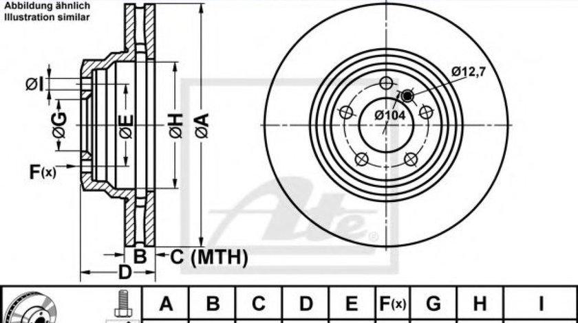 Disc frana BMW X1 (E84) (2009 - 2015) ATE 24.0130-0192.1 produs NOU