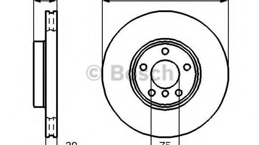 Disc frana BMW X3 (E83) (2004 - 2011) BOSCH 0 986 478 974 piesa NOUA