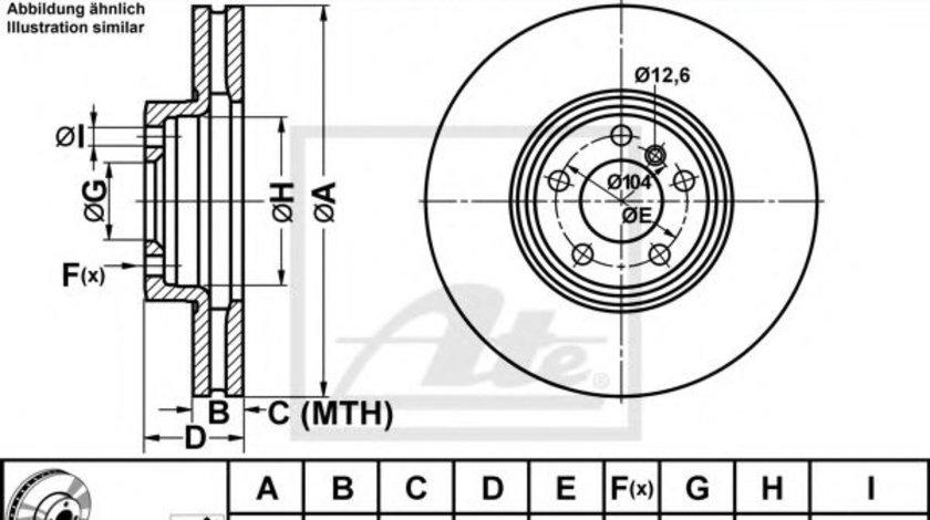 Disc frana BMW X5 (E53) (2000 - 2006) ATE 24.0136-0104.1 piesa NOUA