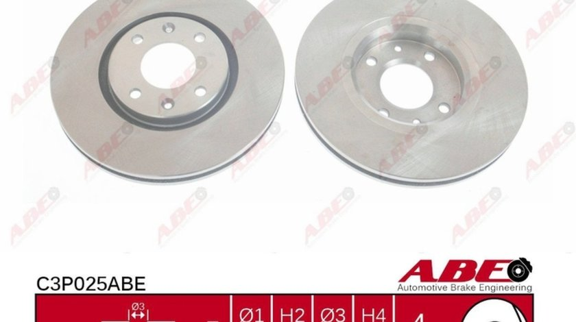 Disc frana CITROËN DS5 Producator ABE C3P025ABE