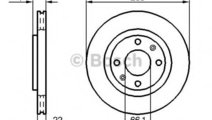Disc frana CITROEN C4 I (LC) (2004 - 2011) BOSCH 0...