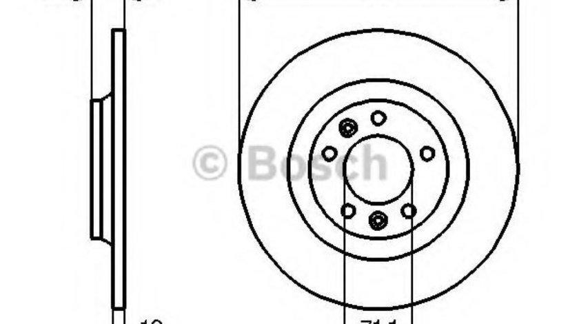 Disc frana CITROEN C5 III Break (TD) (2008 - 2016) BOSCH 0 986 479 194 produs NOU