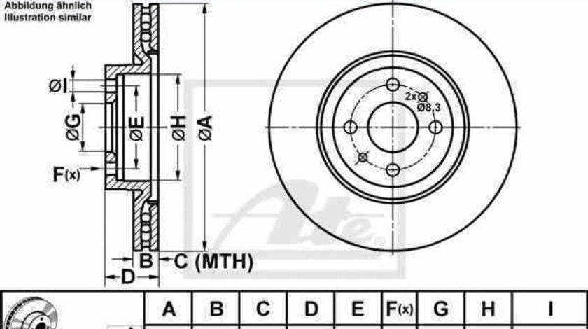 Disc frana FIAT COUPE FA/175 ATE 24.0122-0147.1
