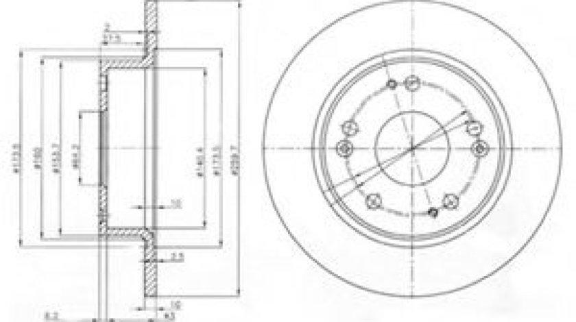 Disc frana HONDA ACCORD VII (CL) (2003 - 2008) DELPHI BG3964 produs NOU