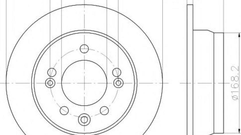 Disc frana HYUNDAI ix35 (LM, EL, ELH) (2009 - 2016) TEXTAR 92161703 piesa NOUA