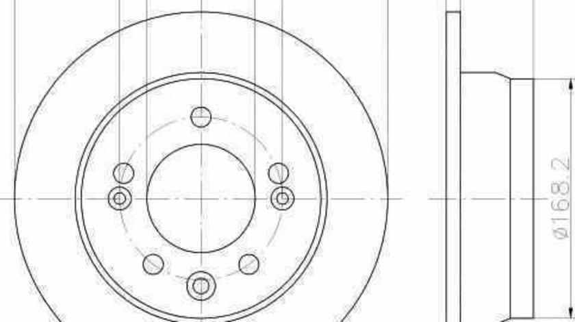 Disc frana HYUNDAI ix35 LM EL ELH TEXTAR 92161703