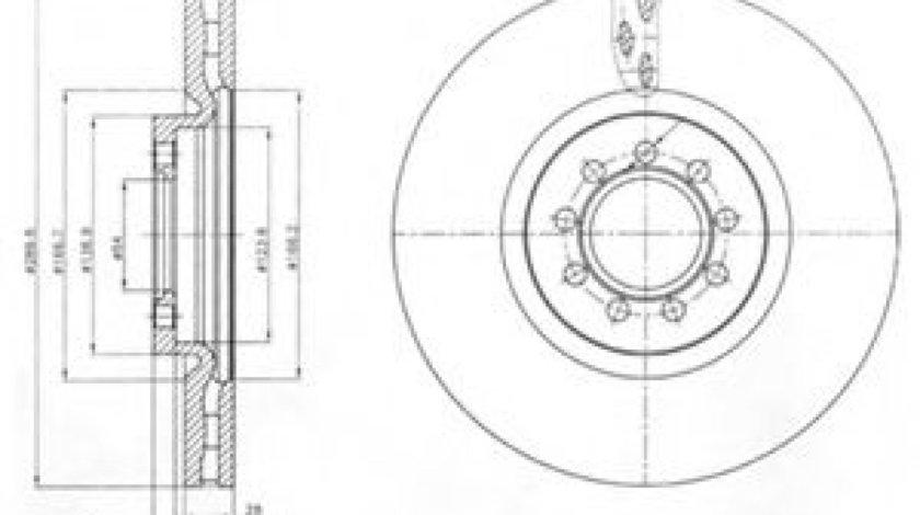 Disc frana IVECO DAILY IV autobasculanta (2006 - 2011) DELPHI BG4101 - produs NOU