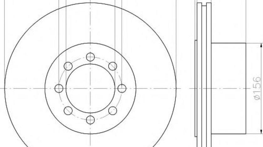 Disc frana IVECO DAILY IV caroserie inchisa/combi (2006 - 2012) HELLA PAGID 8DD 355 117-481 piesa NOUA