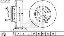 Disc frana MERCEDES A-CLASS (W169) (2004 - 2012) A...