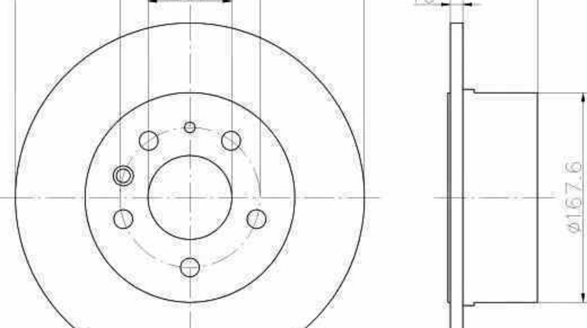 Disc frana MERCEDES-BENZ /8 W114 TEXTAR 92032600