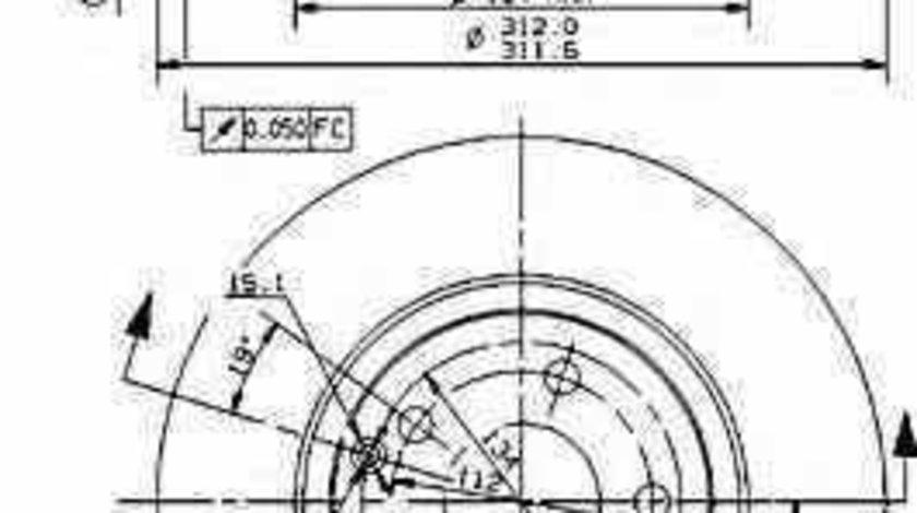 Disc frana MERCEDES-BENZ E-CLASS W211 BREMBO 09.9481.10