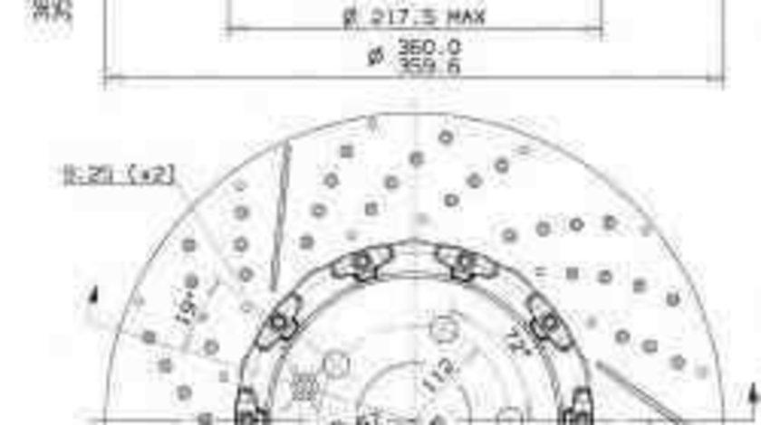 Disc frana MERCEDES-BENZ E-CLASS (W212) BREMBO 09.9764.23