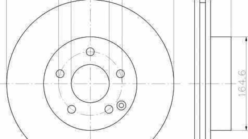 Disc frana MERCEDES-BENZ E-CLASS W212 TEXTAR 92163203