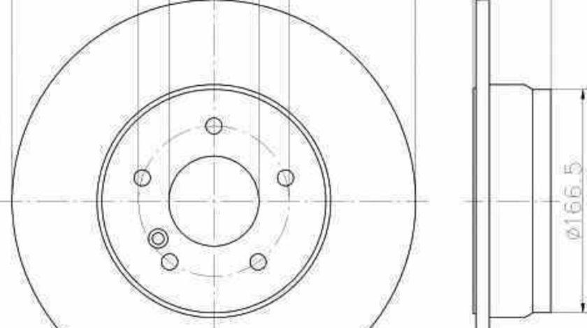Disc frana MERCEDES-BENZ E-CLASS W212 TEXTAR 92163303