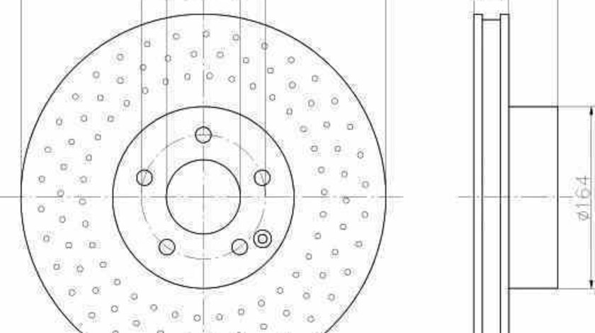 Disc frana MERCEDES-BENZ S-CLASS W220 TEXTAR 92099203