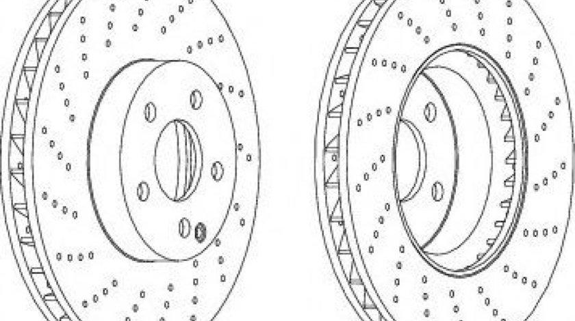Disc frana MERCEDES C-CLASS (W204) (2007 - 2014) FERODO DDF1694C-1 produs NOU