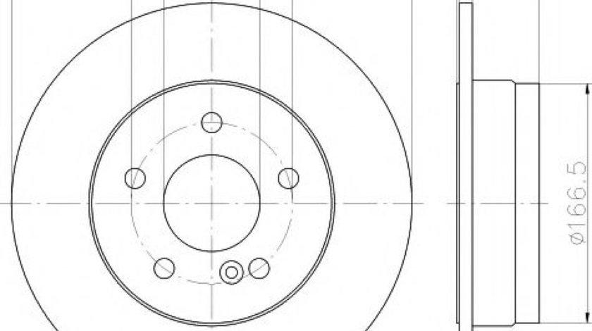 Disc frana MERCEDES C-CLASS (W204) (2007 - 2014) TEXTAR 92163103 produs NOU