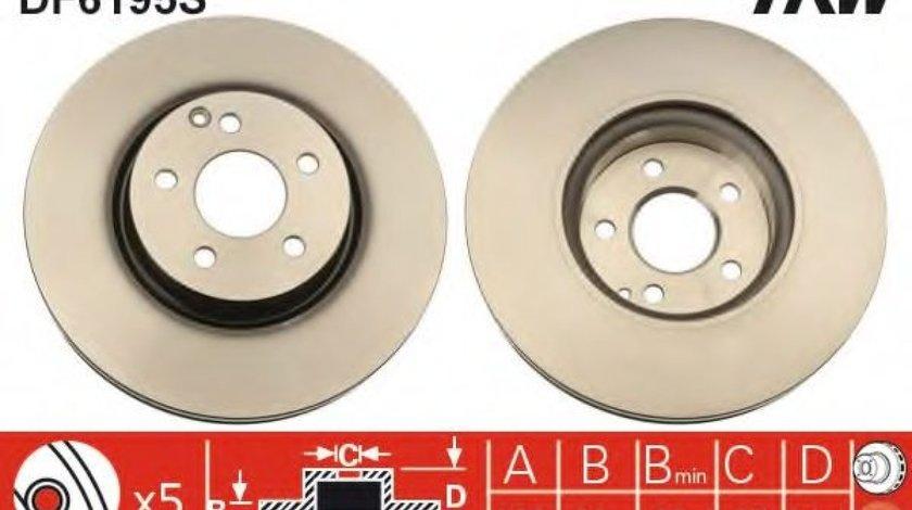Disc frana MERCEDES C-CLASS (W204) (2007 - 2014) TRW DF6195S produs NOU