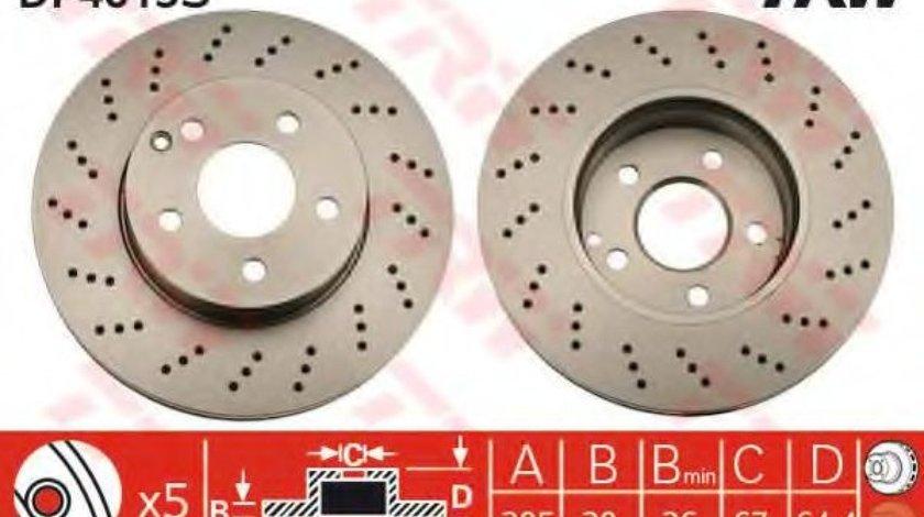 Disc frana MERCEDES C-CLASS (W204) (2007 - 2014) TRW DF4813S produs NOU