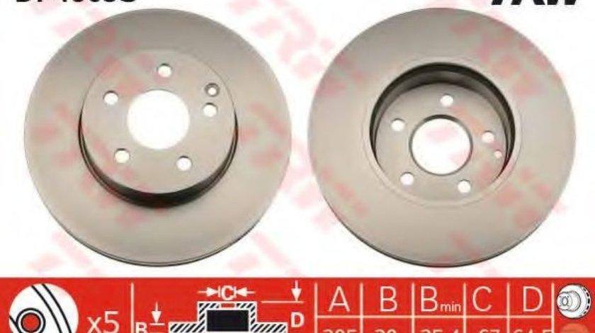 Disc frana MERCEDES C-CLASS (W204) (2007 - 2014) TRW DF4863S produs NOU