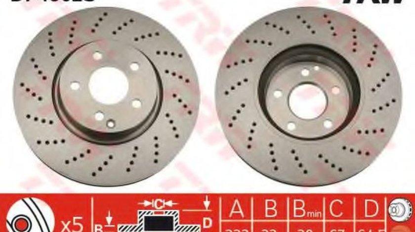 Disc frana MERCEDES C-CLASS (W204) (2007 - 2014) TRW DF4862S produs NOU