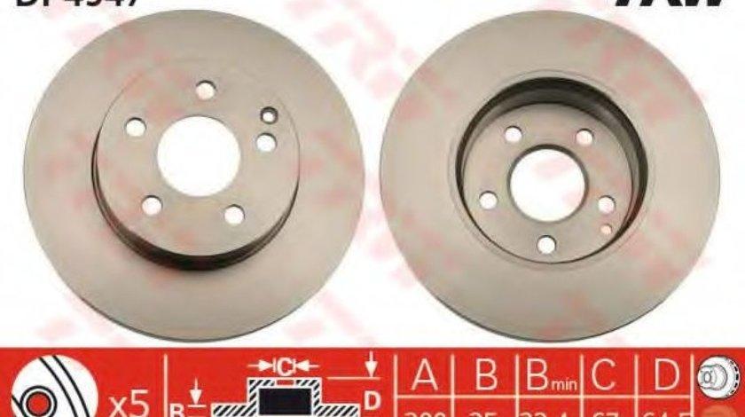 Disc frana MERCEDES C-CLASS (W204) (2007 - 2014) TRW DF4947 produs NOU