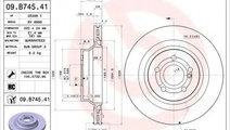 Disc frana MERCEDES E-CLASS (W212) (2009 - 2016) B...